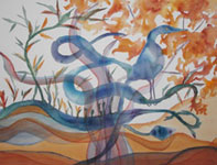 watercolor Blue Bird by Sue Robishaw