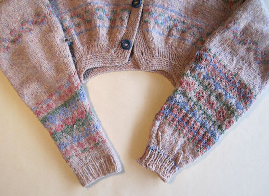 knitted sweater sleeves